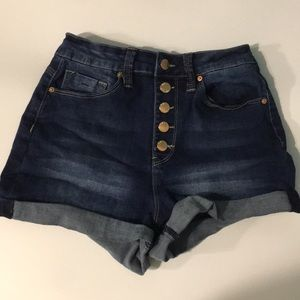 YMI High Rise Shorts Button Fly Size 7
